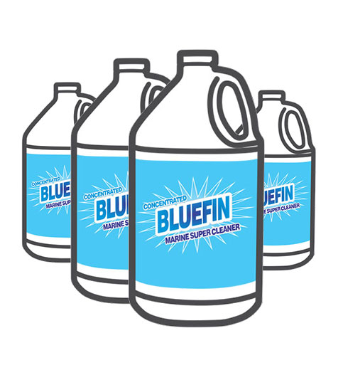 Bluefin Boat and Marine Cleaner Bulk Pack of 4